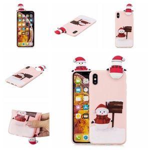 Accessories - NEW iPhone 7/8 Pink 3D Snowman Case